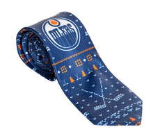 Load image into Gallery viewer, Edmonton Oilers Ugly Christmas Tie.