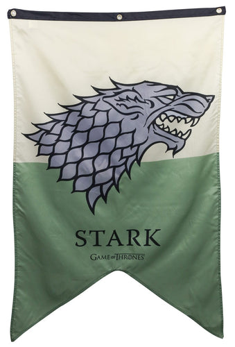 House Stark Sigil Wall Banner, Green and Natural.