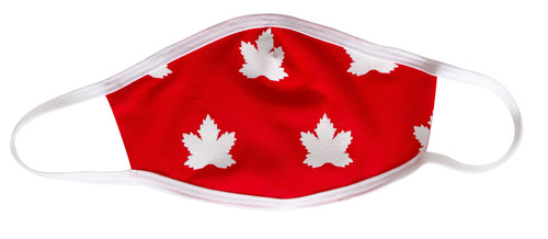 Scattered Maple Leaf Face Mask, Canada Proud.