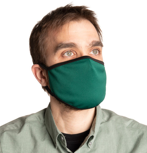 Kelly Green Air Mesh Face Mask Modeled