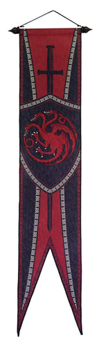 Targaryen Felt Wall Banner, Sword and Dragon.