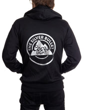 Load image into Gallery viewer, Mens Coors Light Silver Bullet Full Zip Hoodie Back Logo
