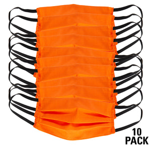 Face mask generate 3 orange pack of 10