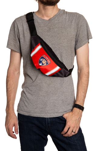NHL Unisex Adjustable Fanny Pack- Florida Panthers Crossbody