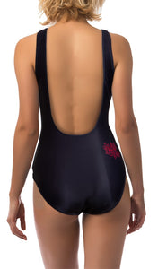 Ladies Canada Themed One Piece Swimsuit- Paisley Print
