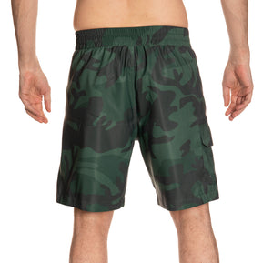 Dallas Stars Green Camo Boardshorts Back View