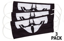 Load image into Gallery viewer, Guy Fawkes Face Mask, 3 Pack.