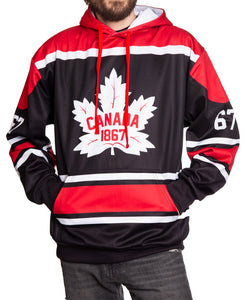Canada Flag 1867 Pullover Hoodie Full View