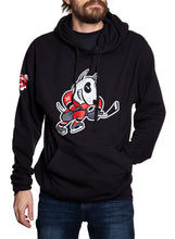 Load image into Gallery viewer, NIagara IceDogs Bones Sweatshirt- Black Front