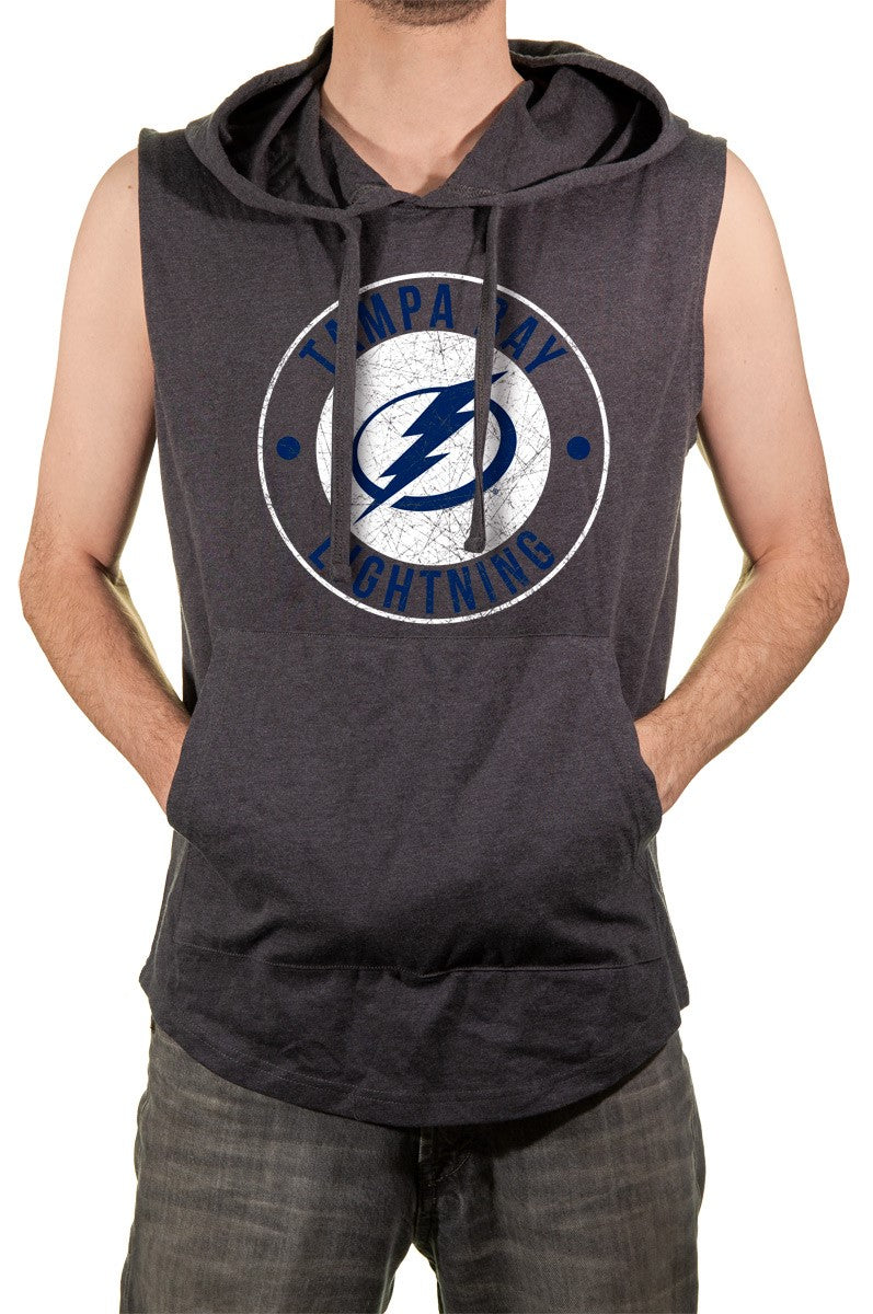 NHL Men's Sleeveless Hoodie- Tampa Bay Lightning