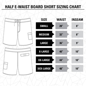 Lone Star Texas Boardshorts Size Guide.