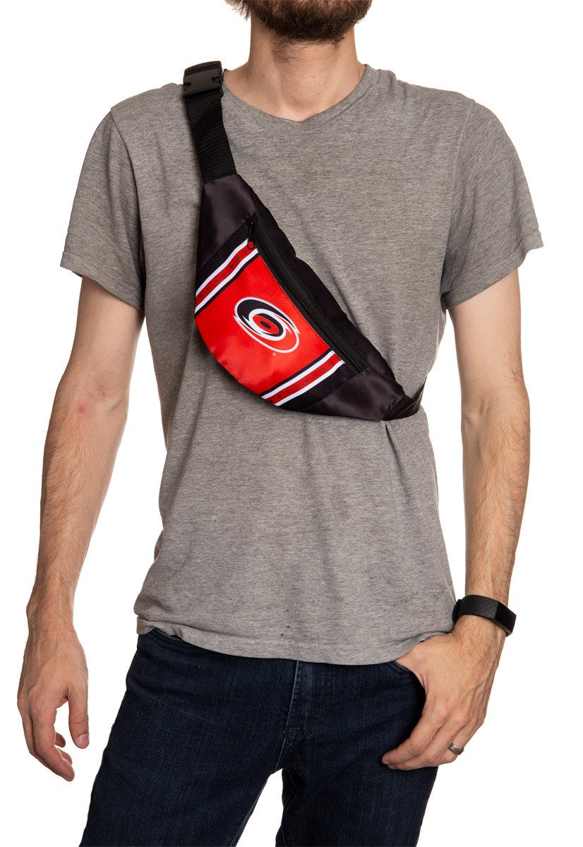 NHL Unisex Adjustable Fanny Pack - Carolina Hurricanes Crossbody