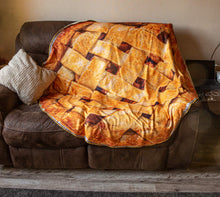 Load image into Gallery viewer, Realistic Apple Pie Blanket Lifestyle Photo.