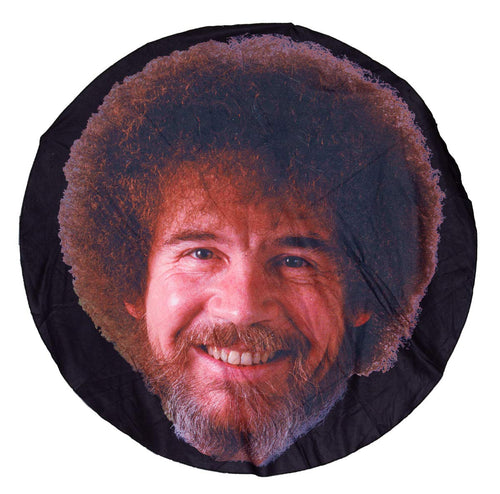Realistic Bob Ross Head Throw Blanket. Lightweight Blanket.