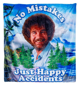 No Mistakes Just Happy Accidents Throw Blanket.