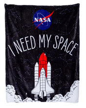 Load image into Gallery viewer, NASA I Need My Space Plush Throw.