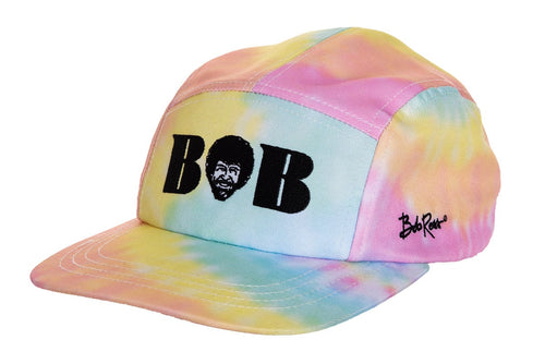 Officially Licensed Bob Ross Bob Tie Dye Ball Cap - Available For Pre-Order**  Fabric Ball Cap With Multicolour
