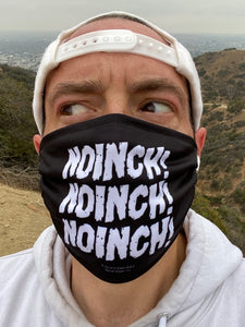 Noinch! Face Mask. Jay and Silent Bob Black Face Mask. Modeled by Kevin Smith.