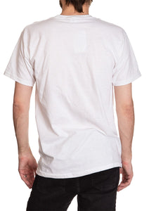 Men's  Corona Extra Bottle Label T-Shirt- Distressed Full Back Image Blank White NO Logo