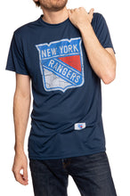 Load image into Gallery viewer, Distressed Logo T-Shirt in Blue New York Rangers.