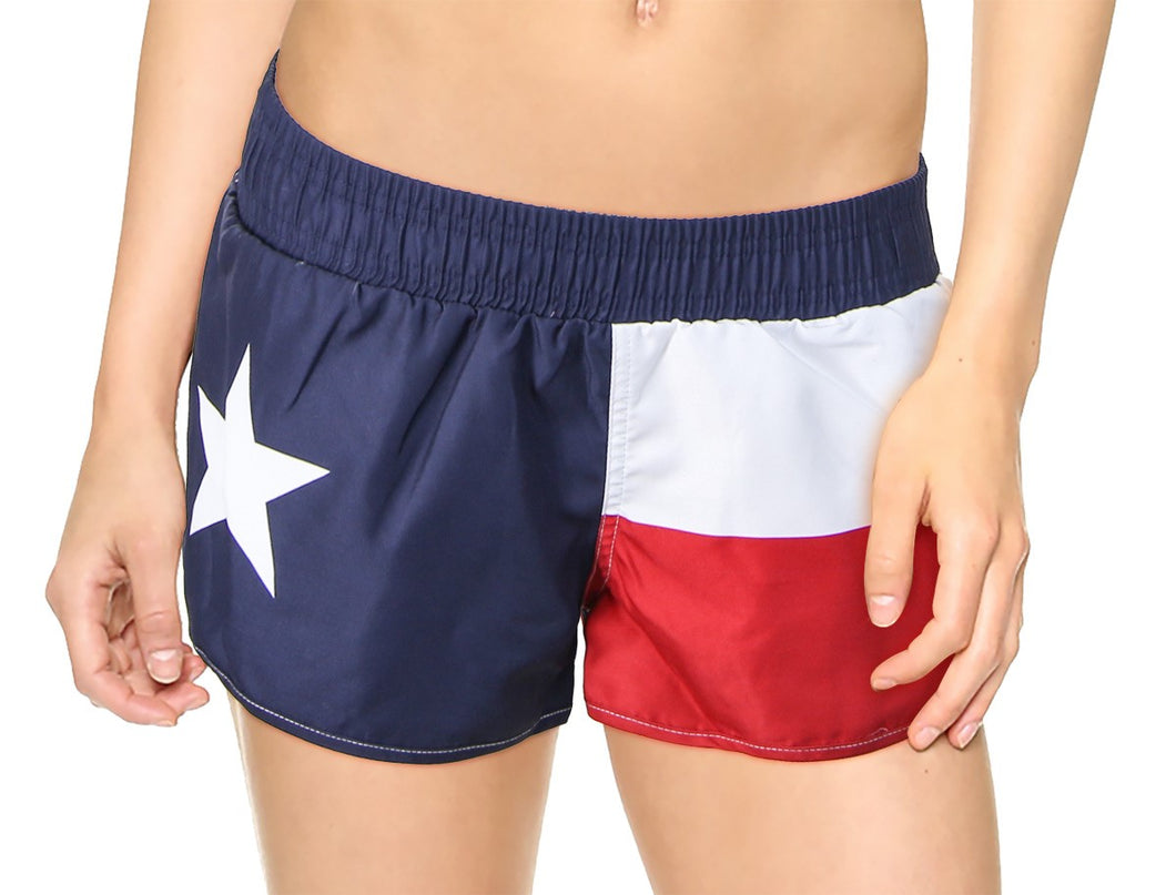 Ladies Texas Lone Star State Flag Board Short
