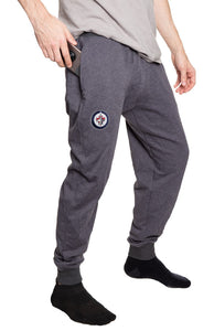 Winnipeg Jets French Terry Jogger Pants Side View.