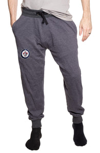 Winnipeg Jets French Terry Jogger Pants Front View.