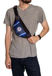 NHL Unisex Adjustable Fanny Pack- Winnipeg Jets Crossbody