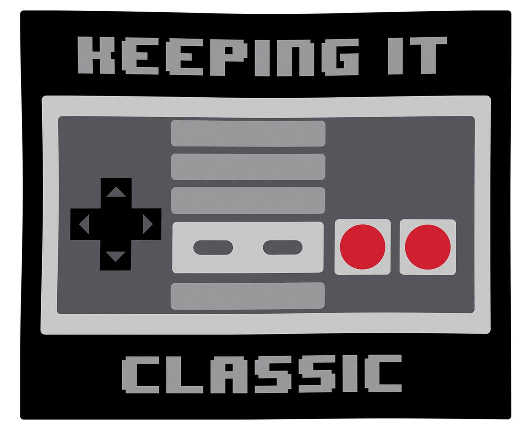 Keeping It Classic Retro Gaming Lightweight Decorative Throw Blanket