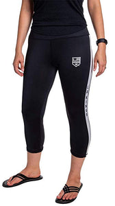 NHL Women's Athletic Capri Workout Leggings- Los Angeles Kings Front