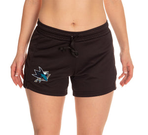 Ladies NHL Air Mesh Short- San Jose Sharks
