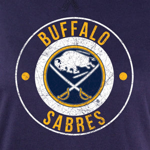 NHL Ladies Official Team Hoodie- Buffalo Sabres Distressed Logo