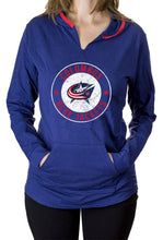 Load image into Gallery viewer, NHL Ladies Official Team Hoodie- Columbus Blue Jackets Front