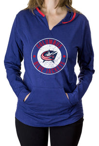 NHL Ladies Official Team Hoodie- Columbus Blue Jackets Front