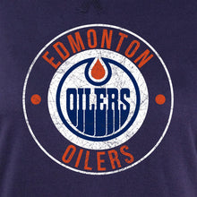 Load image into Gallery viewer, NHL Ladies Official Team Hoodie- Edmonton Oilers Distressed Logo