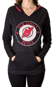 NHL Ladies Official Team Hoodie- New Jersey Devils Front