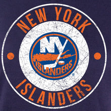 Load image into Gallery viewer, NHL Ladies Official Team Hoodie- New York Islanders Distressed Logo