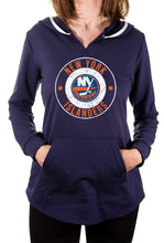 Load image into Gallery viewer, NHL Ladies Official Team Hoodie- New York Islanders Front