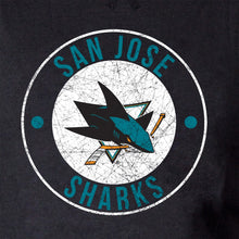 Load image into Gallery viewer, NHL Ladies Official Team Hoodie-  San Jose Sharks Distressed Logo