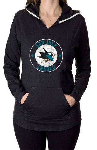 NHL Ladies Official Team Hoodie-  San Jose Sharks Front