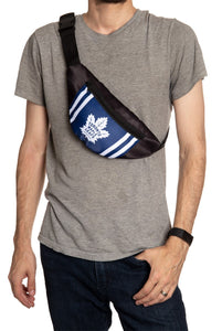NHL Unisex Adjustable Fanny Pack- Toronto Maple Leafs Crossbody