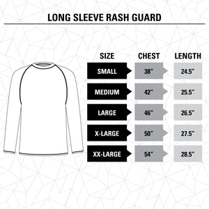 Vancouver Canucks Jersey Style Long Sleeve Rashguard Size Guide.