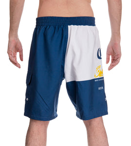 Mens Corona Bottle Label Boardshort - Back View