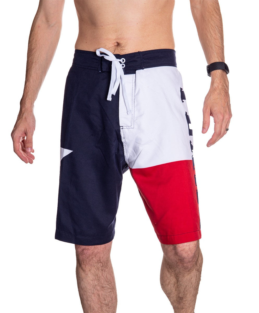 Men's Lone Star State Flag Boardshorts Full Front Photo