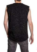 Load image into Gallery viewer, Men's Team Logo Crew Neck Space Dyed Cotton Sleeveless T-Shirt- Los Angeles Kings Full Length Back Photo NO Logo