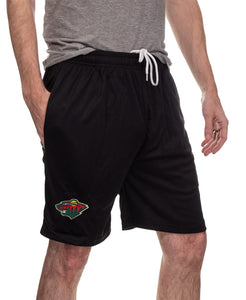 NHL Mens Air Mesh Shorts- Minnesota Wild