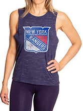 Load image into Gallery viewer, New York Rangers Logo Sleeveless Shirt for Women – Space Dyed Crew Neck