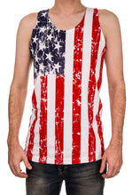 Load image into Gallery viewer, Mens USA Flag Tank Top FRONT