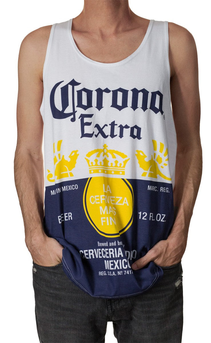 Mens Corona Extra Tank Top - White