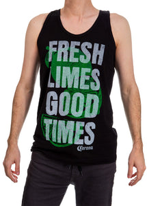 "Mens Corona Extra Tank Top- ""Fresh Limes Good Times"""